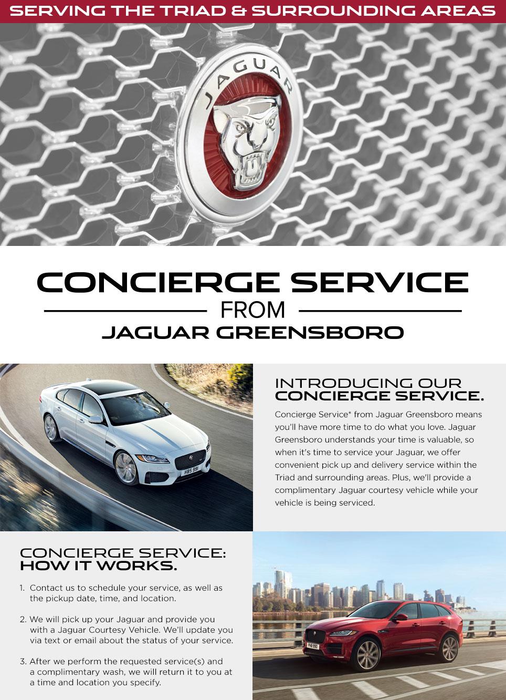 Concierge Service at Jaguar Greensboro