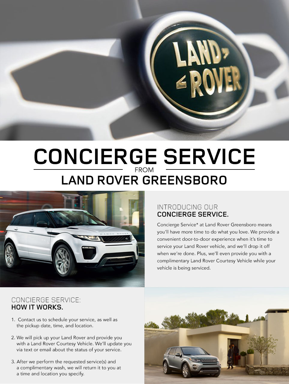 Concierge Service at Land Rover Greensboro