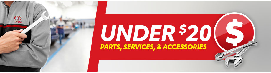 Toyota Parts, Services, and Accessories Under $20